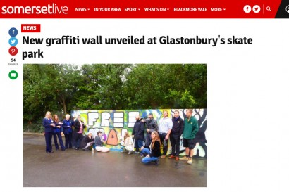 Glastonbury Skate Park Graffiti wall