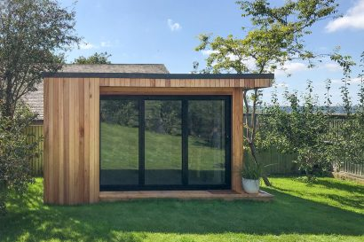 Timber clad garden office
